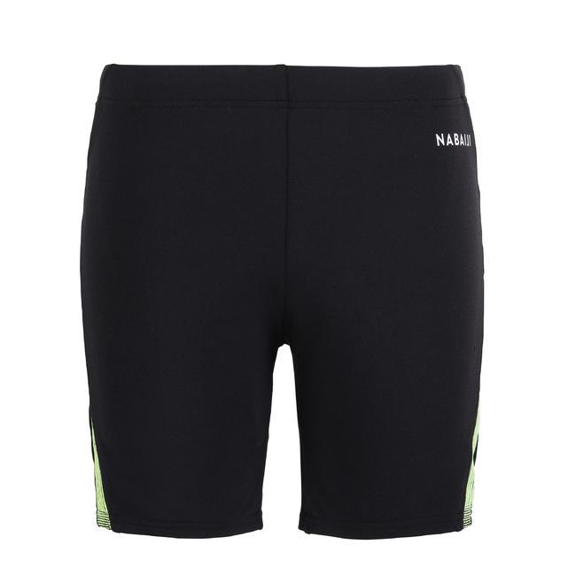 Men swimming boxer shorts - black yellow blue
