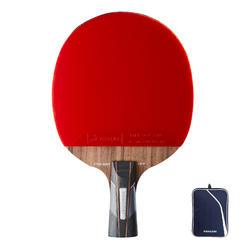 俱樂部乒乓球拍+球拍套TTR 900 Spin C-Pen