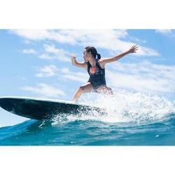 MAILLOT DE BAIN SURF FILLE NOIR ROUGE MANLY 900