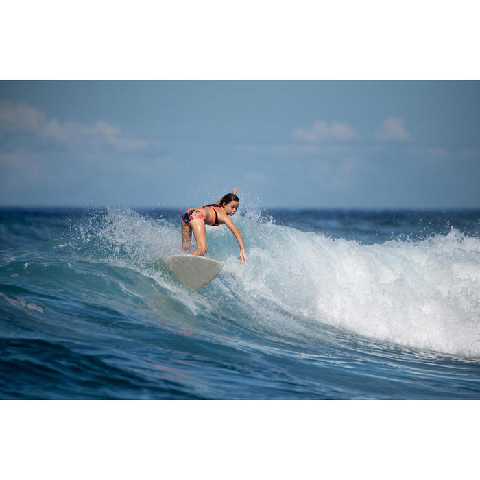 Cueca de Bikini de Surf MAS 900 Menina Preto