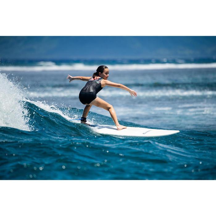Badpak voor surfen Manly 900 zwart/rood