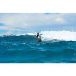 Surfbadpak voor meisjes Manly 900 zwart/rood