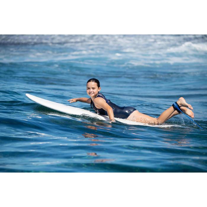 MAILLOT DE BAIN SURF FILLE BLEU NOIR MANLY 900