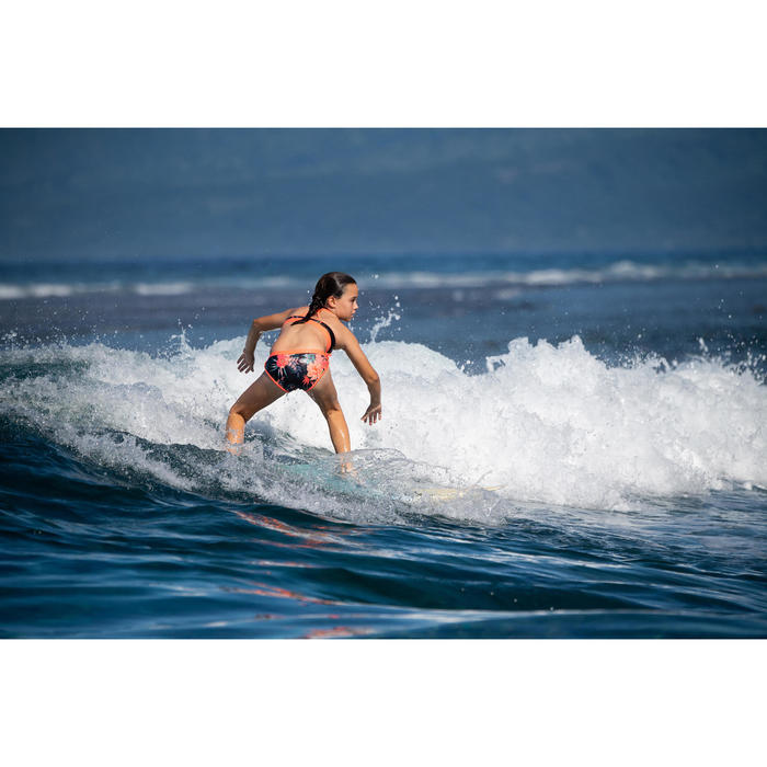 HAUT DE MAILLOT DE BAIN SURF FILLE BRASSIERE NOIR BAHA 900