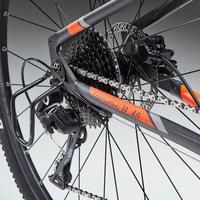 Sivo-narandžasti hibridni bicikl RIVERSIDE 900