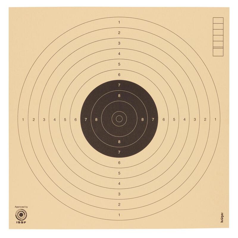 100 cibles pistolet air comprimé à 10 mètres. 17 x 17 cm