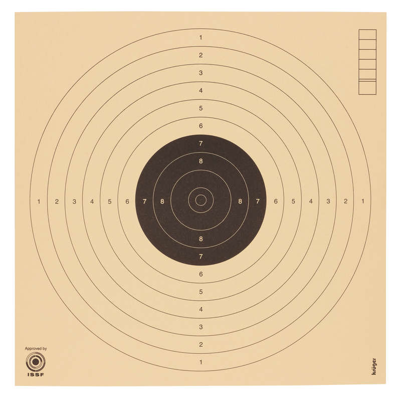 AIR RIFLE LEAD SHOT/TARGETS/SCOPES Shooting and Hunting - 10 m pistol target KRUGER DRUCK PLUS VE - Shooting and Hunting
