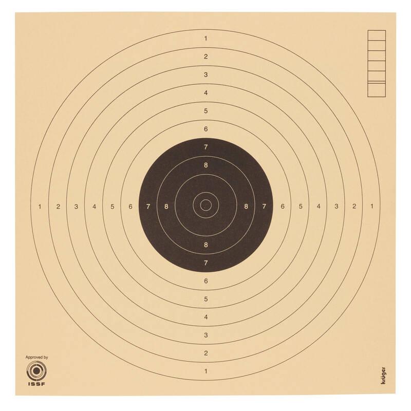 TERČE/OLOVNATÉ STŘELIVO Myslivost a lovectví - PISTOLOVÝ TERČ 10 M KRUGER DRUCK PLUS VE - Sportovní střelba