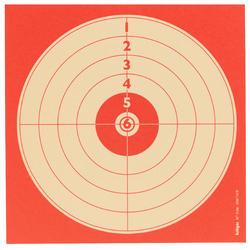 Schietschijf voor sportschieten met luchtwapens 14cm x 14cm