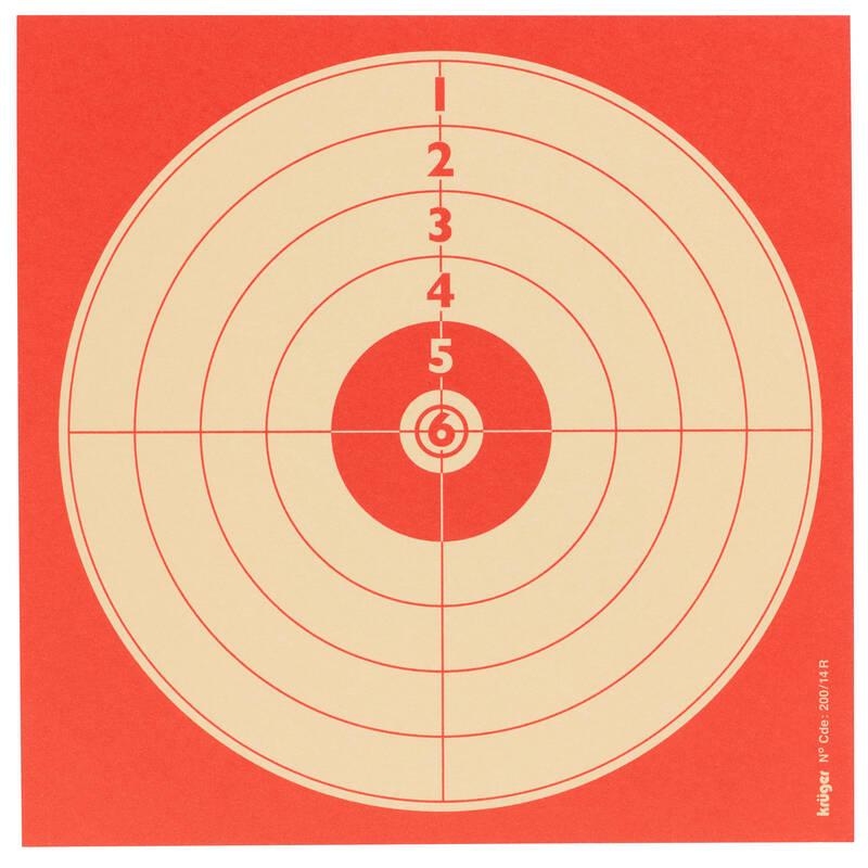 TERČE/OLOVNATÉ STŘELIVO 4,5MM Myslivost a lovectví - REKREAČNÍ TERČ 14 × 14 CM KRUGER DRUCK PLUS VE - Sportovní střelba