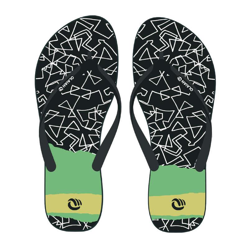Gyerek papucs Strand, szörf, sárkány - Fiú strandpapucs 120 B Grib OLAIAN - Bikini, boardshort, papucs
