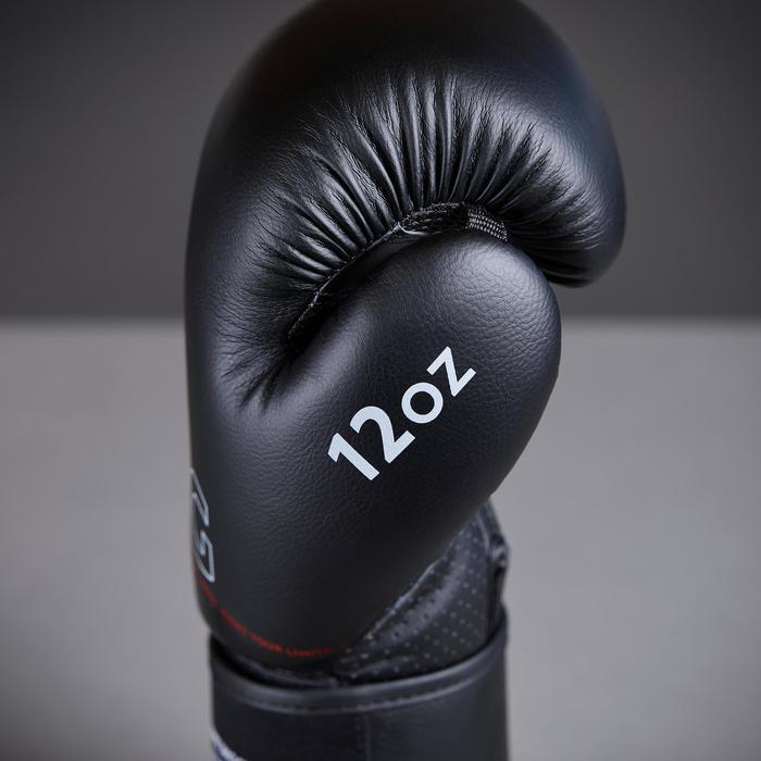 Trainingshandschoenen voor boksen kinderen 120 zwart