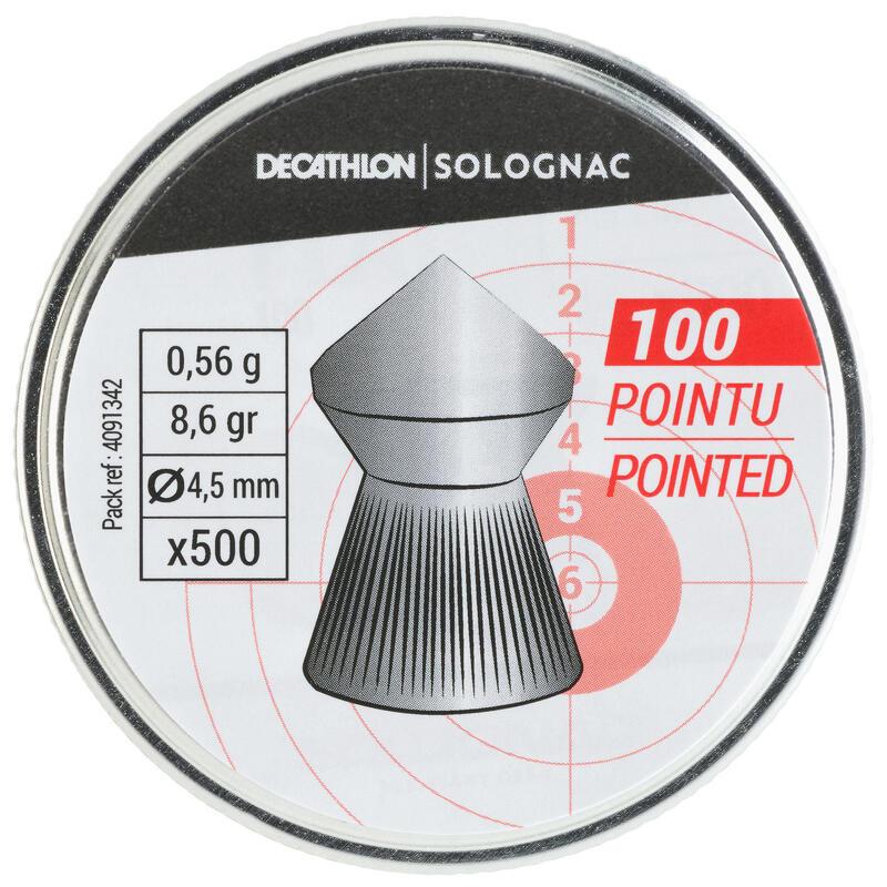 Perdigones TIro Deportivo Solognac 100 Punta 500 Unidades 4,5mm