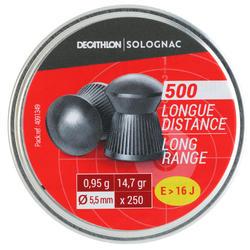 Luchtdrukkogeltjes 500 KALIBER 5,5 mm LANGE AFSTAND
