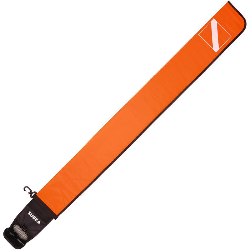 Trapboei voor diepzeeduiken met ballast van 140 g SCD oranje