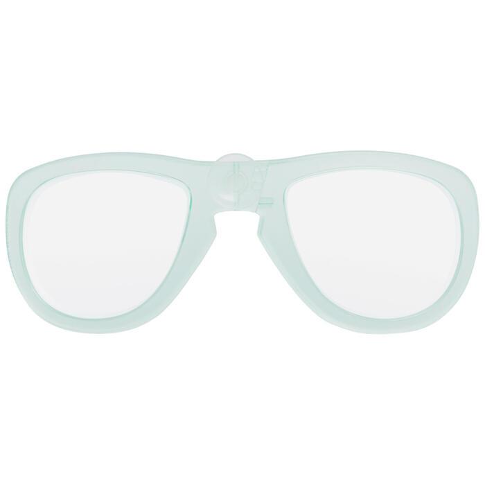 Corrigerend glas rechts bijziendheid voor snorkelmasker Easybreath muntgroen