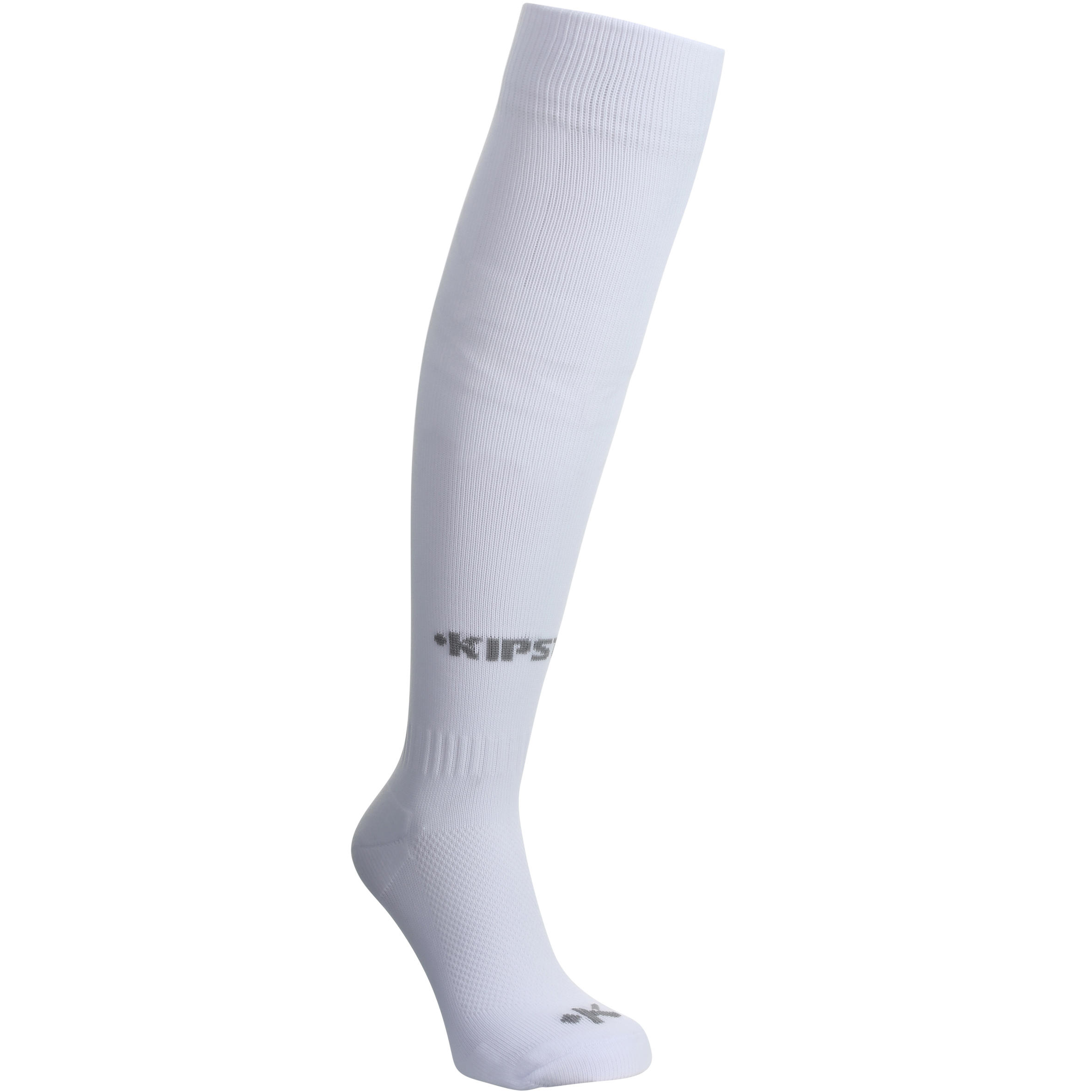 Chaussette de soccer enfant F100 blanche
