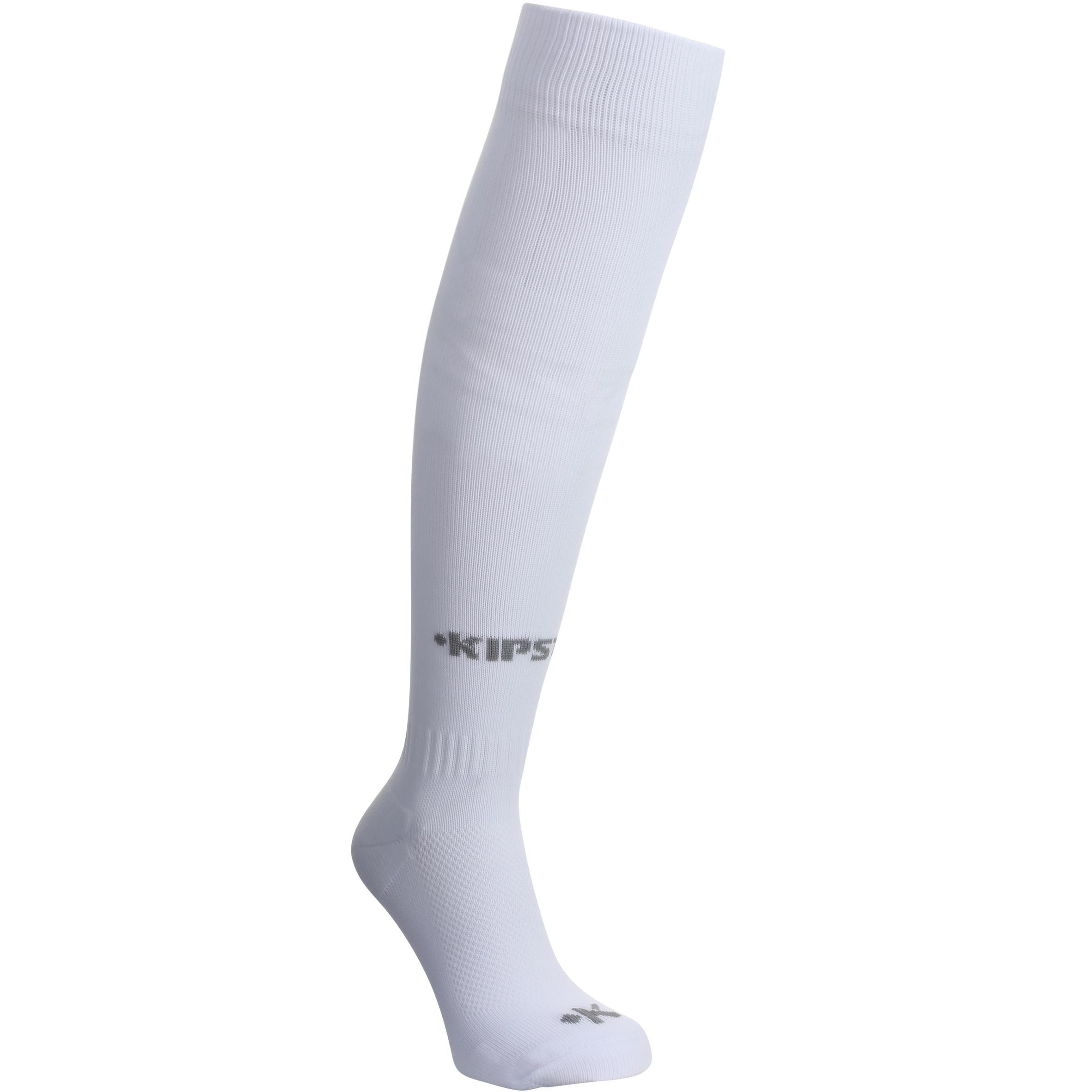F 100 Junior Kaos Kaki Sepak bola - Putih Sepanjang Lutut