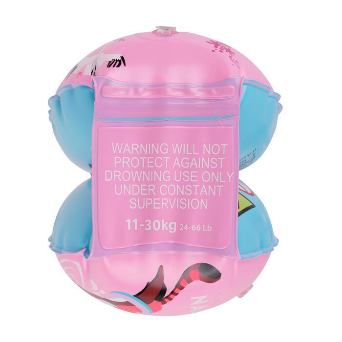 兒童游泳臂圈11-30 kg - 粉紅「熊貓」印花