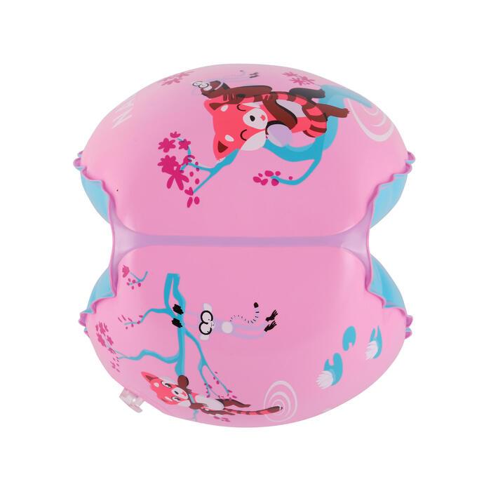 """Kids' Swimming Armbands 11-30 kg - Pink """"Red Panda"""" Print"""