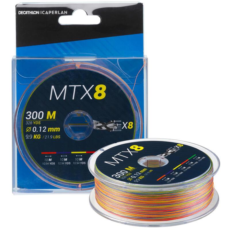 8-strand braid MTX8 MULTICOLOUR 300M 12/100 Sea fishing