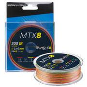 8-strand EXOTIC braid MTX8 MULTICOLOUR 300M 40/100 Sea fishing