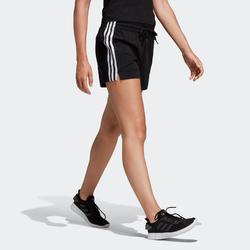 Short Adidas femme Essential en coton noir