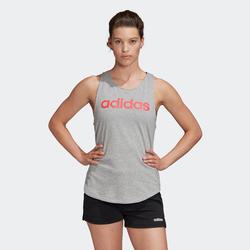 Débardeur Adidas Femme Gris avec Logo Rose