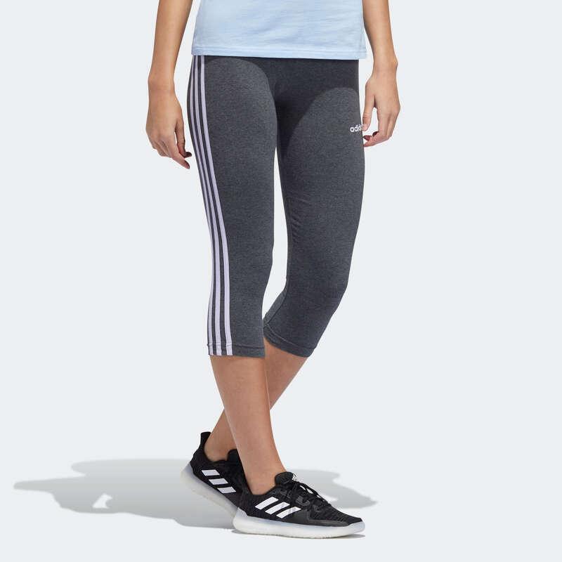 NŐI PÓLÓ, LEGGING, RÖVIDNADRÁG Fitnesz - Női térdnadrág Adidas ADIDAS - Fitnesz