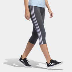 Corsaire Adidas Essential femme en coton gris