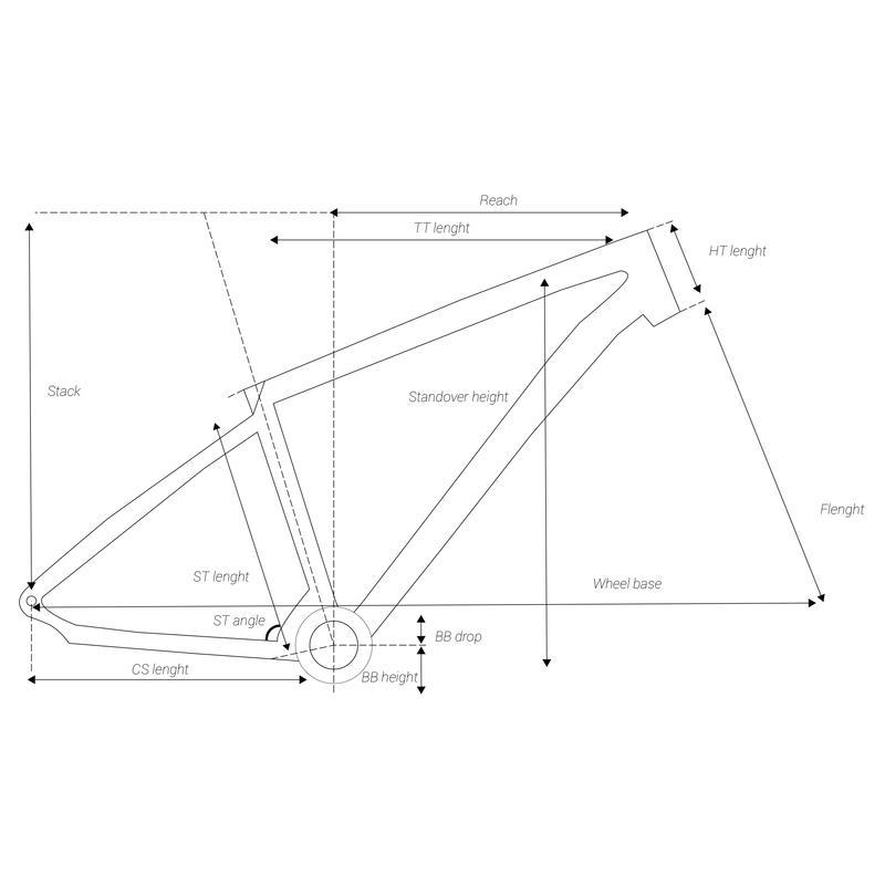 """CADRE VTT ROCKRIDER ST 530 NOIR 27.5"""" DRH17 ALUMINIUM"""