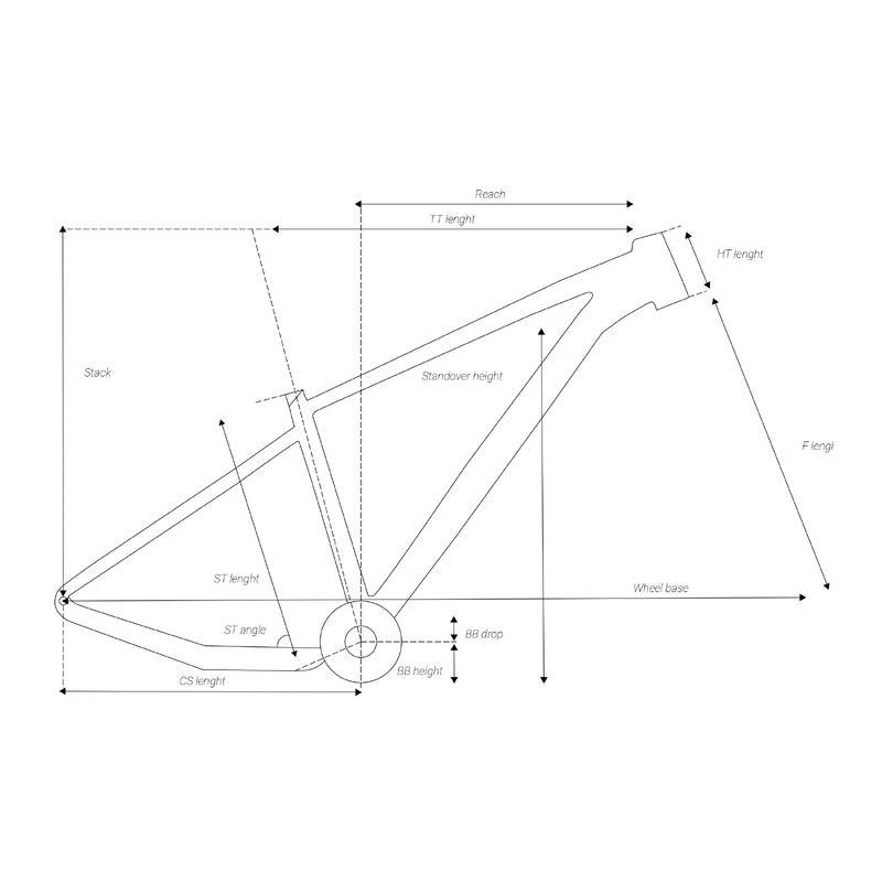 CADRE VTT ROCKRIDER XC 50 2020 BOOST DBA18 ALUMINIUM