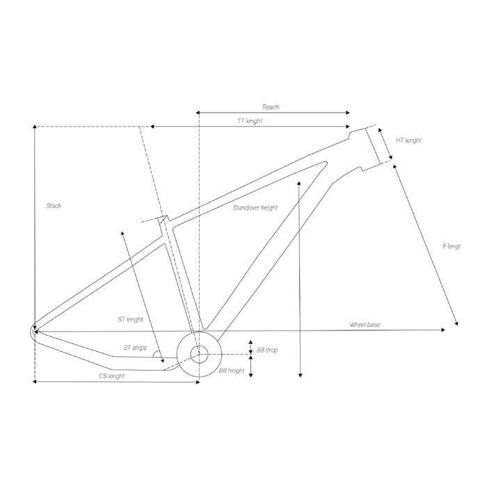 "Mountainbike XC 500 27.5"" EAGLE lichtblauw"