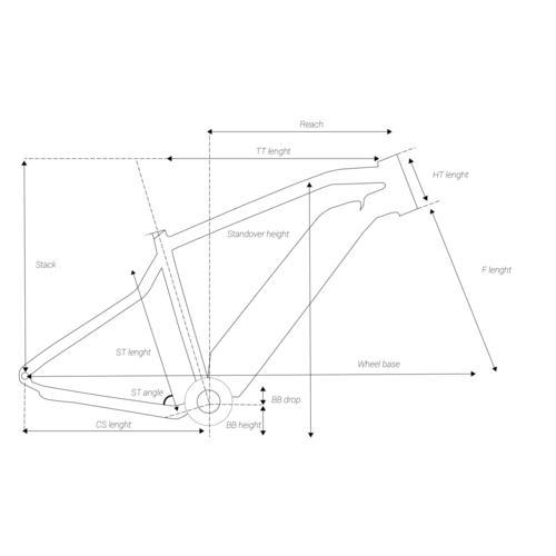 CADRE VTT ROCKRIDER E-ST 500 BLEU/NOIR 27.5'' MPA-E17 ALUMINIUM