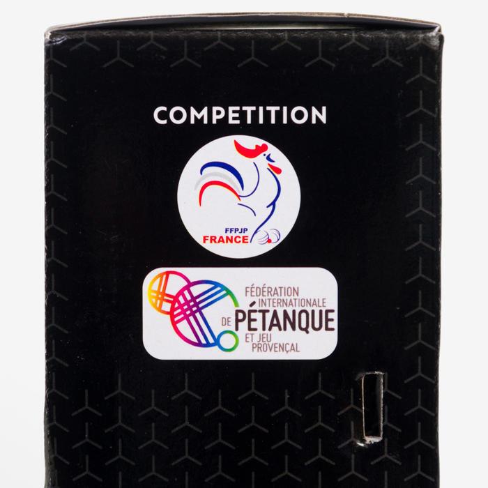 3 halfzachte petanqueballen voor competitie PI