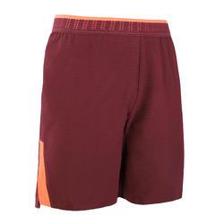 成人款足球短褲CLR - 勃根地紅