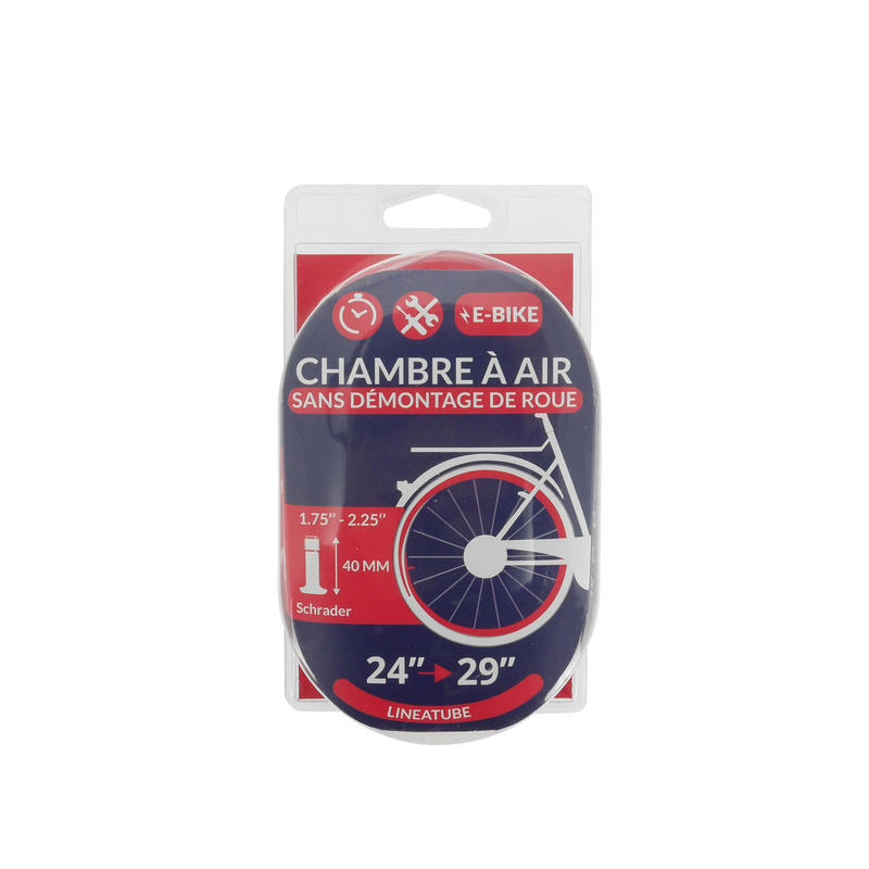 CHAMBRE A AIR LINEAIRE 24/29x1,75-2,25 VALVE SCHRADER
