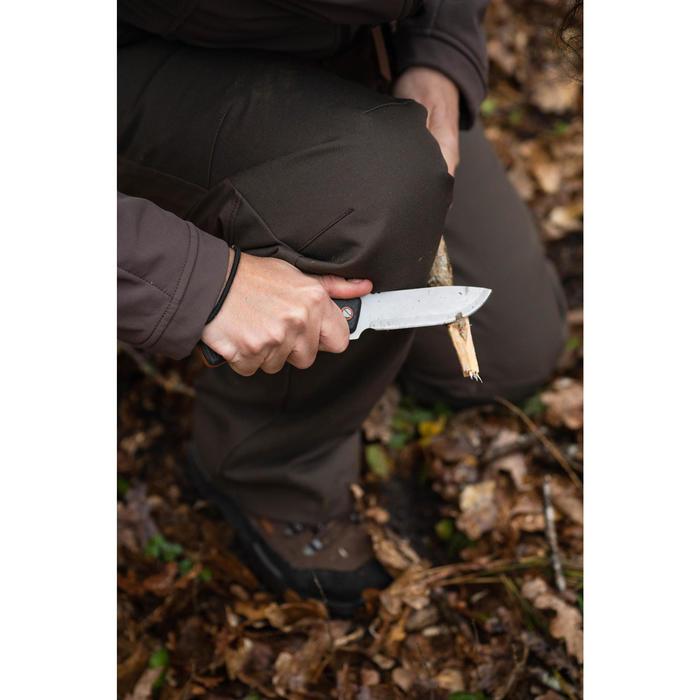Vast mes voor de jacht Sika 90 grip zwart