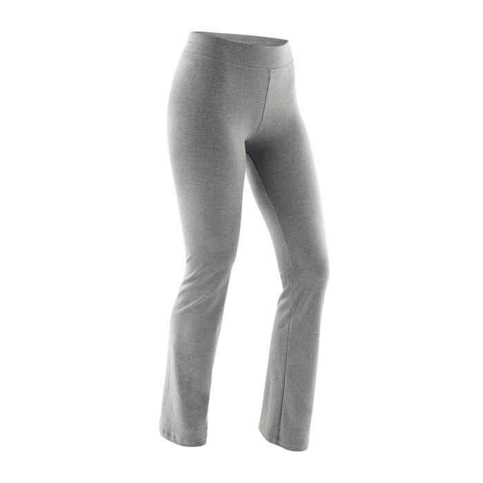 Women's Regular-Fit Pilates & Gentle Gym Sport Bottoms Fit+500 - Grey
