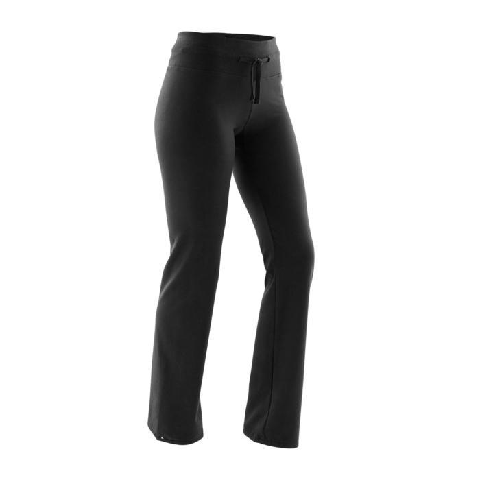 Women's Regular-Fit Sport Leggings 500 - Black
