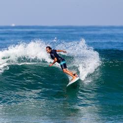 Leash voor surfboard 7' (210 cm) diameter 7 mm oranje