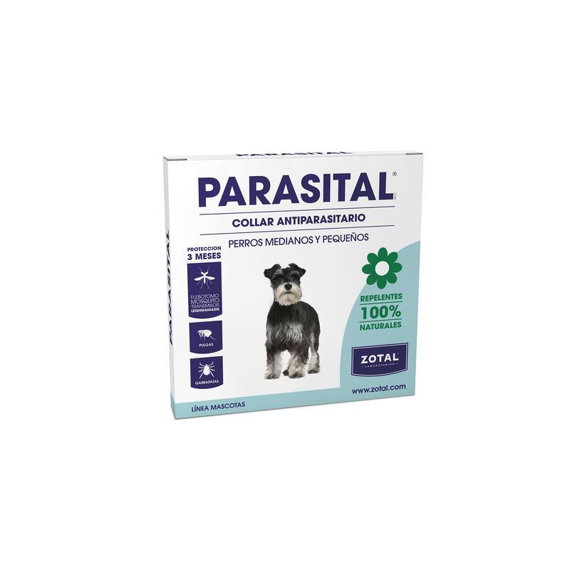 Collar repelente parásitos perros pequeños y medianos parasital