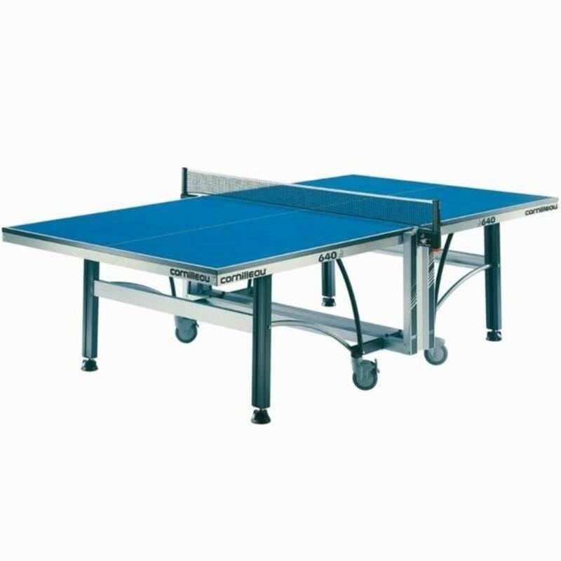 INTERIÉROVÉ STOLY NA STOLNÍ TENIS RAKETOVÉ SPORTY - STŮL 640 INDOOR ITTF MODRÝ CORNILLEAU - Stolní tenis, ping pong BLUE