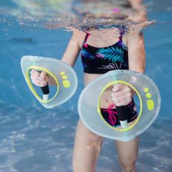 Accessoire voor spierversterking pullpush aquafitness turquoise geel