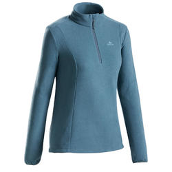 Women's Mountain Walking Fleece MH100 - Grey