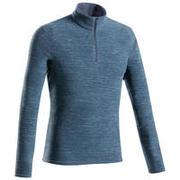 Men's Fleece Jacket MH100 - Blue/Grey