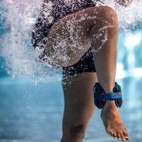 Brazaletes Lastrados Aquafitness Adulto Negro Naranja 2*0,5kg