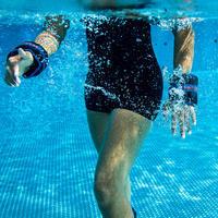 ដុំទំងន់ពាក់ជើងសម្រាប់ហាត់ Aquafitness - ខ្មៅ ទឹកក្រូច 2*0.5 កគ