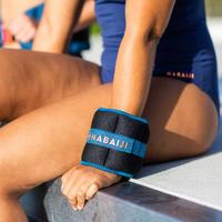 Aquafitness Weighted Wristbands - black blue. 2*0.5 KG