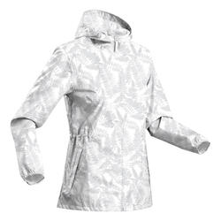 Women's Country Walking Waterproof Jacket Raincut Zip